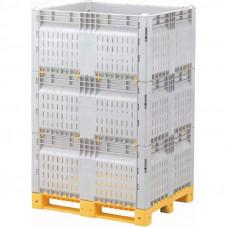 Разборный контейнер модель КитБин перфорированный увеличенный тройной