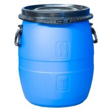 Бочка пластиковая 48 литров крышка на пластиковом /металлическом обруче