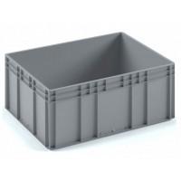 Пластиковый ящик ЕС-8632 серый с усиленным дном