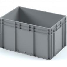 Пластиковый ящик ЕС-6432 серый с гладким дном