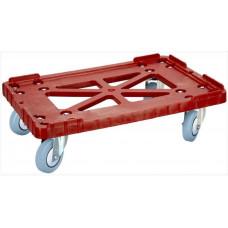 Тележка для пластиковых ящиков Арт. 508-2 серые или синие резиновые колёса